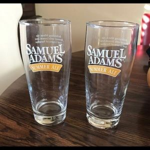 Set of Sam Adams Summer Ale pint glasses
